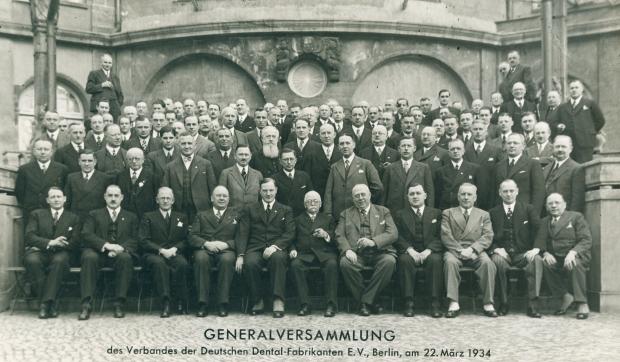 VDDI Ernst Hinrichs Generalversammlung Dental-Fabrikanten Berlin 1934